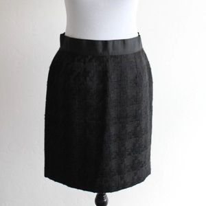 LOFT Textured black Professional versatile skirt